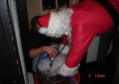 Funny Picture - Santa Visits The Local College