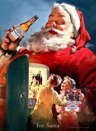 Funny Picture - Bud For Santa - Funny Christmas Picture