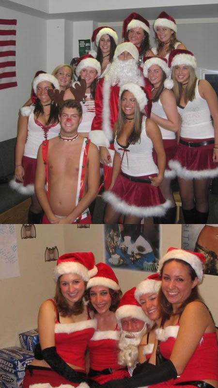 Funny Picture - Santa And His Ho, Ho, Hoes
