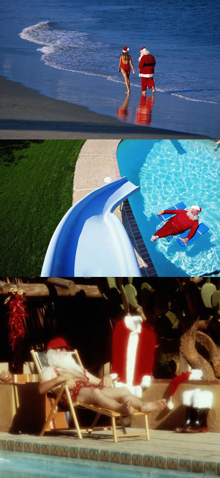 Funny Picture - Santa On Vacation