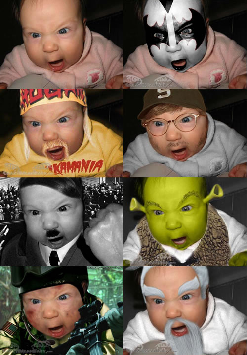 Funny Picture - Crazy Mean Baby
