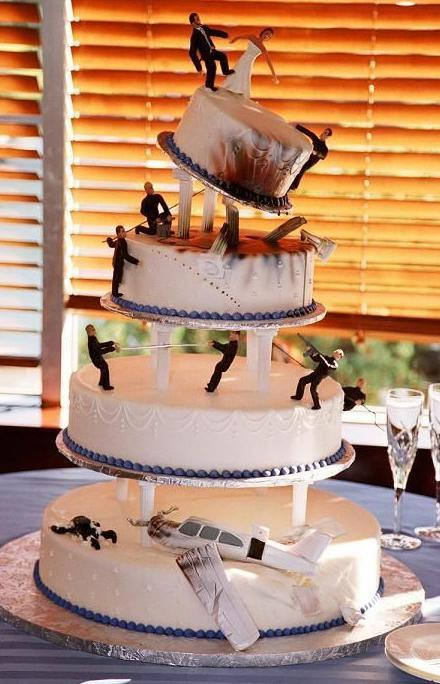 Funny Picture James Bond 39s Wedding Cake