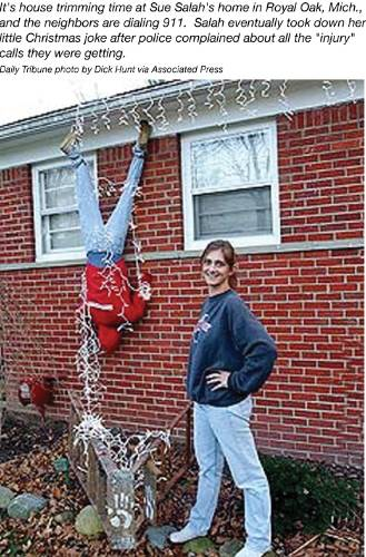 Funny Picture - A Christmas Prank - Christmas Decoration