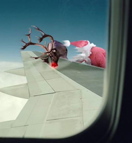 Funny Picture - Christmas Card - Watch Out Santa!