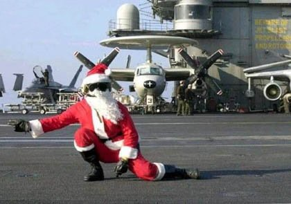 Funny Picture - Christmas Greeting - Santa's Modern Transport
