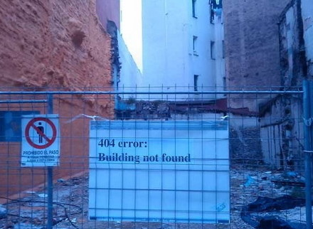 Funny Picture - Building Not Found