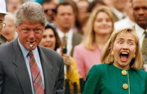 Funny Picture - Bill Loves A Woman With A Big Mouth