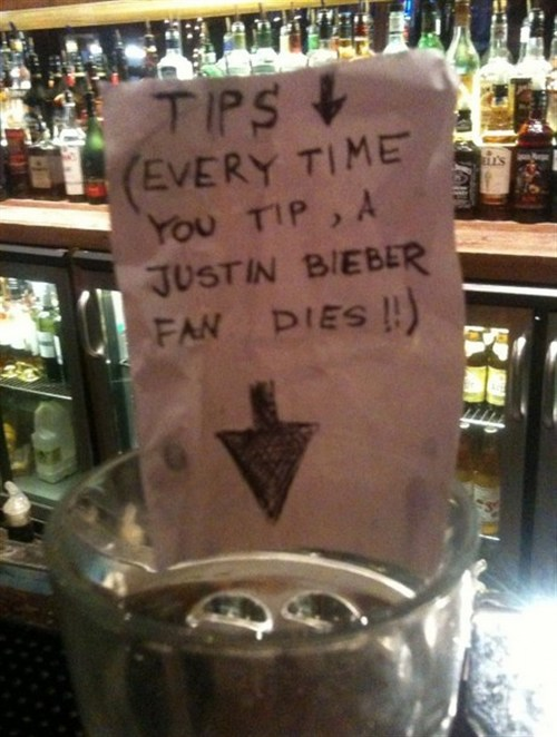 Funny Picture - Great Way To Make Money Off Bieber