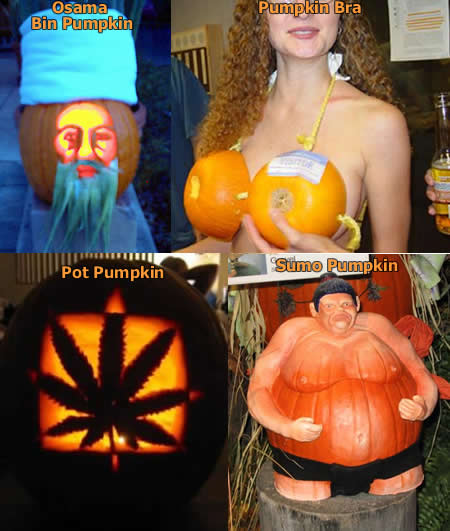 Funny Picture - Funny Pumpkins